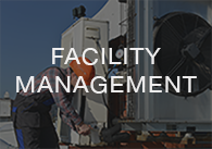 Image: facility manager with the words facility management, click to access the on-demand facility management videos